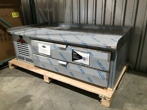 Utility 67 Inch Equipment Stand Refrigerated Chefs Base Lhr 48 2d em