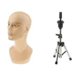 Male Manequin Head Glass Manikin With Holder Stand Salon Home Retail Display