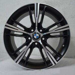 Set Of 4 Wheels 18 Inch Matt Black Rims Fits 5x120 Bmw 3 Series Sedan E90