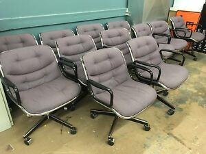 Knoll Pollock Chairs Mid Century Modern Executive Office Chairs