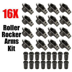 16pcs Roller Rocker Arms 1 6 Ratio 7 16 Sbc Stainless Fit Sb Chevy 283 327 350