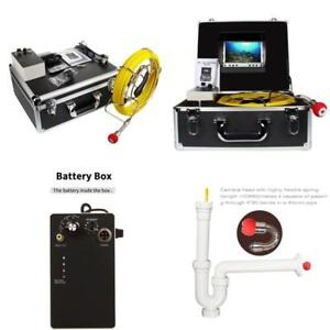 Sewer Drain Snake Camera Pipe Line Locator Waterproof Video System Lcd Display