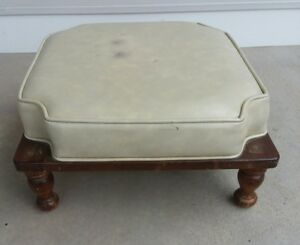 Vintage Mid Century Ethan Allen Stacking Ottomans Foot Rests Stool Table