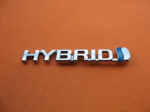 07 08 09 Toyota Prius Hybrid Left Fender Chrome Emblem Logo Badge Sign Oem Lh 1