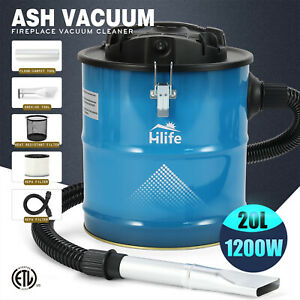 Ash Vacuum Cleaners W 3 Brush Heads filter For Fireplaces car bbq Wet Dry Dust