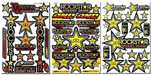 Motorcycle Bike Decals Rockstar Energy Sticker Graphics Kits Helmet Atv Mtb Bmx
