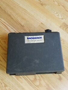 Bacharac Monoxer Ii Electronic Gas Analyzer With Instruction Manual In Case