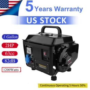 Portable Gas Generator 1200w Emergency Home Back Up Power Camping Tailgating as