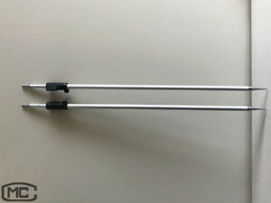 2 Pcs 2 15m Prism Pole With Swiss style Tip For Leica Total Station