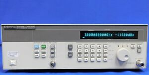 Agilent Hp Keysight 83712b Synthesized Cw Generator 10 Mhz To 20 Ghz W Opt 1e1