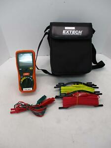 Extech 382252 Earth Resistance Tester Kit W Bag And Probes