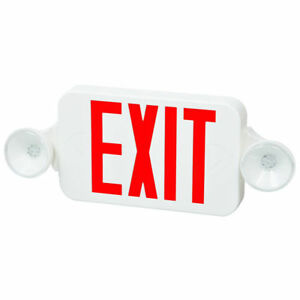 Fulham Firehorse Exit Lighting Led Exit Sign Combo Fhec30wr