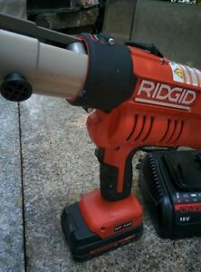 Ridgid Brand Propress Crimper Model Rp340 Batteries Charger And Case 18v Clean