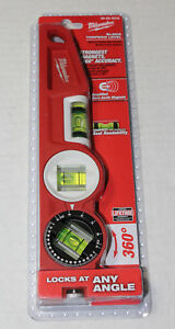 New Milwaukee 48 22 5210 10 Die Cast Torpedo Level With 360 Degree Locking Vial