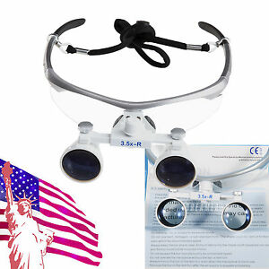 Popular Dental Surgical Binocular Magnifier Loupes glasses 3 5x 420mm Loupe Ce