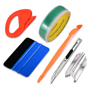 5m Knifeless Finish Line Tape Pro Squeegee Graphic Vinyl Cutting Trim Wrap Tool