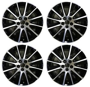 19 Toyota Highlander 2017 2018 Factory Oem Rim Wheel 75215 Black Machined Set