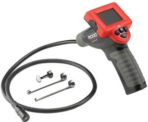Ridgid Inspection Camera Fixed Imager Cable 1 handed Pistol Grip Lcd Display