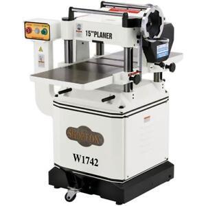 Shop Fox W1742 15 Planer With Cast Iron Wings And Mobile Base