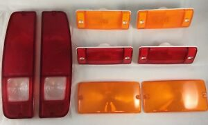 New 1970 1977 Early Ford Bronco Marker Parking And Taillight Lens Set