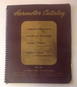 Old Vintage 1947 Aermotor Catalog No 59 Windmills Towers Pumps Cylinders