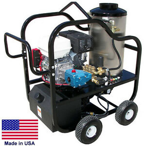 Pressure Washer Portable Hot Water 4 Gpm 4000 Psi 13 Hp Belt Drive Cat