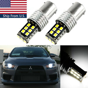 Hid White 15w Cree Smd 1156 Led For 08 14 Lancer Evo X Daytime Running Lights