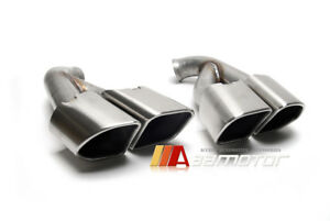 Square Tips Muffler Rear Exhaust Tail Pipes Stainless For 15 17 Porsche Cayenne