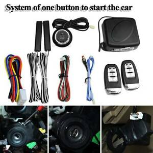 Universal Car Keyless Entry Engine Start Alarm System Button Remote Starter