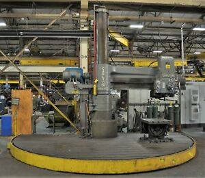 8 X 19 Carlton Radial Arm Drill T Slotted Half Moon Table S n 4a463