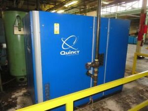100 Hp Quincy Rotary Screw Air Compressor Qgv 100 New 2012