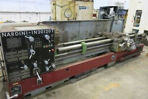 Nardini Mdl In20120t Manual Lathe 20 X120 Capacity 4 5 Hole Thru Spind
