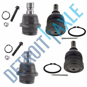 4pc Front Upper Lower Ball Joints For 2005 2011 2012 Nissan Frontier Xterra