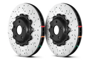 Dba 5000 Series Drilled Slotted Front Rotors W Black Hat For 370 G37 Sport