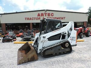2014 Bobcat T590 Skid Steer Loader Caterpillar Multi Terrain Low Hours
