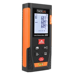 Tacklife Hd60 Classic Laser Measure 196ft M in ft Mute Laser Distance Meter