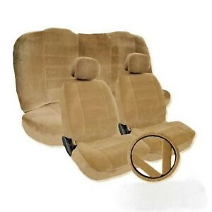 Honda Accord Beige Tan Seat Covers 2 Front Low Back Bucket Seat Covers W