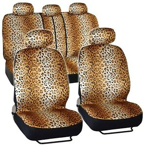 Bdk Quality Pro Seat Covers Leopard Print Auto Seat Covers Full Set Univers