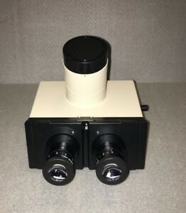 Olympus Super Wide Field Trinocular Microscope Head With Eyepieces