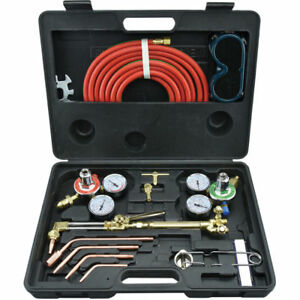New Gas Welding And Cutting Kit Victor Type Acetylene Oxygen Torch Set Regulat