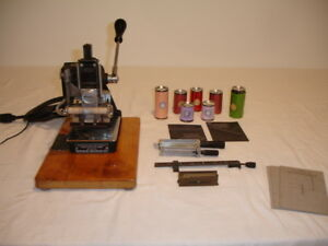 Kingsley Hot Foil Stamping Machine M 60 With Accessories
