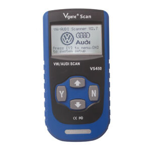 New Vgate Scan Vs450 Vag Can Obdii Scantool Reset Mil Osl Airbag Abs For Audi Vw