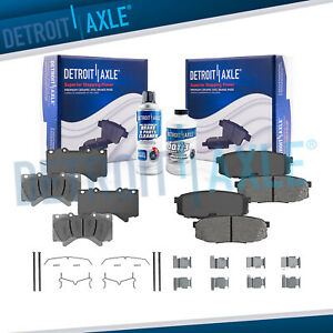Front Rear Ceramic Brake Pads Kit For Lx570 Toyota Land Cruiser Sequoia Tundra