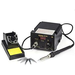 Soldering Stations Iron With Extra Heating Element 5 Tips 937d
