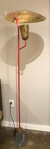 Mid Century Italian Red Floor Lamp