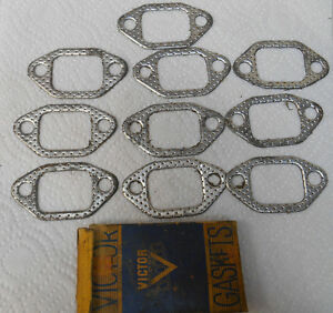 Lot Of 10 Vintage Nos Victor 40 S 50 S Cadillac Gm Exhaust Manifold Gaskets