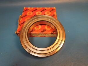 Fag 6016 2zr C3 Deep Groove Ball Bearing Shielded Germany