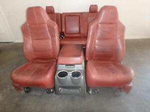 Ford F250 F350 Front Rear Seat Set Leather King Ranch Heated 2008 2009 2010