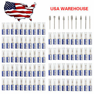 100 Tungsten Steel Dental Tooth Drill Carbide 2 35mm Burs Mix Drills Usps Cj dm