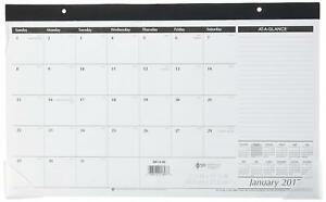 At a glance Compact Desk Pad Calendar 2016 17 3 4 X 9 7 8 Inches sk14 00 2